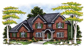 Country European House Plan 97188 Elevation