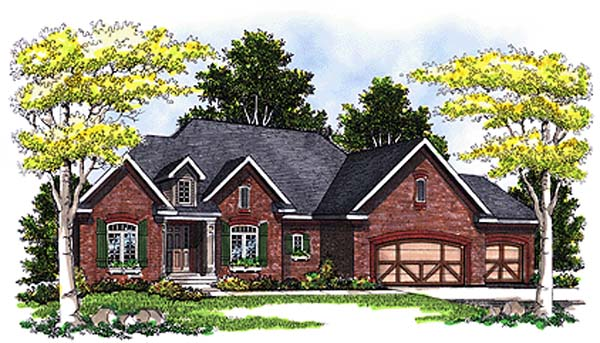 Traditional House Plan 97190 Elevation