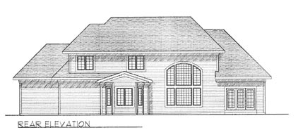 Traditional House Plan 97190 Rear Elevation