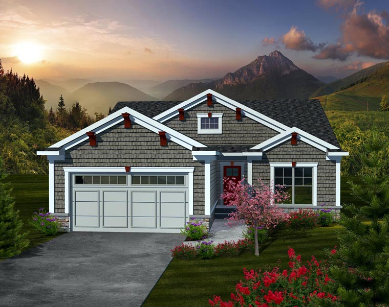 Ranch House Plan 97191 Elevation