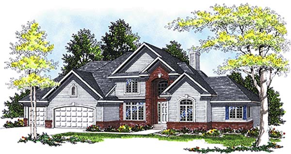 European House Plan 97192 Elevation
