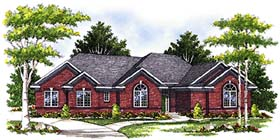 House Plan 97193 | European Style Plan with 1801 Sq Ft, 3 Bedrooms, 3 Bathrooms, 3 Car Garage Elevation