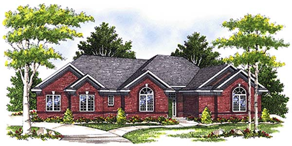 European House Plan 97193 with 3 Beds, 3 Baths, 3 Car Garage Elevation