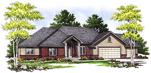 Traditional House Plan 97194 Elevation