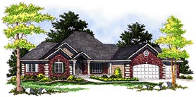 European House Plan 97197 with 4 Beds, 4 Baths, 3 Car Garage Elevation
