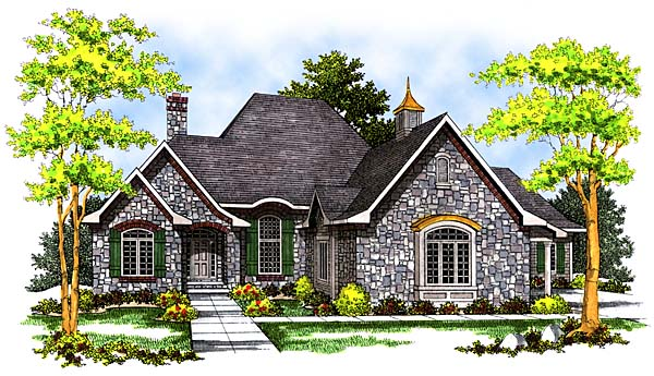 Bungalow European House Plan 97198 Elevation