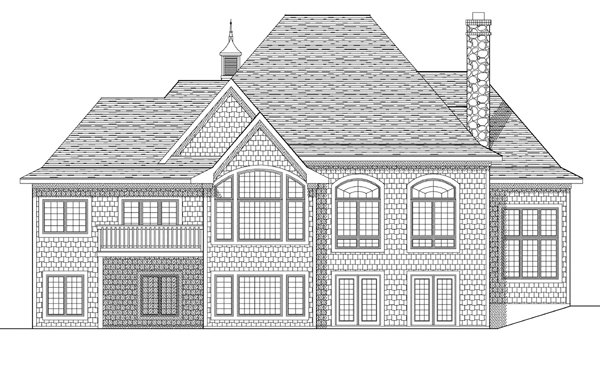 Bungalow European House Plan 97198 Rear Elevation