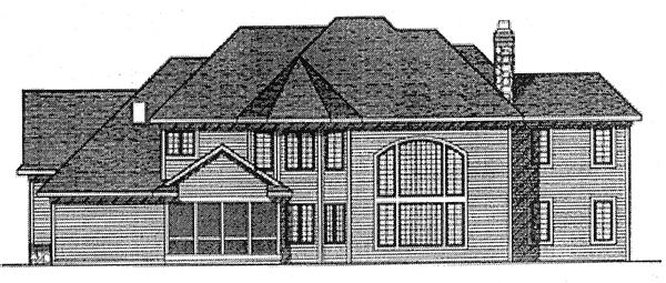 Bungalow European House Plan 97199 Rear Elevation