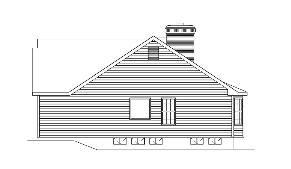 Ranch, Traditional House Plan 97204 with 3 Beds, 2 Baths, 2 Car Garage Picture 1
