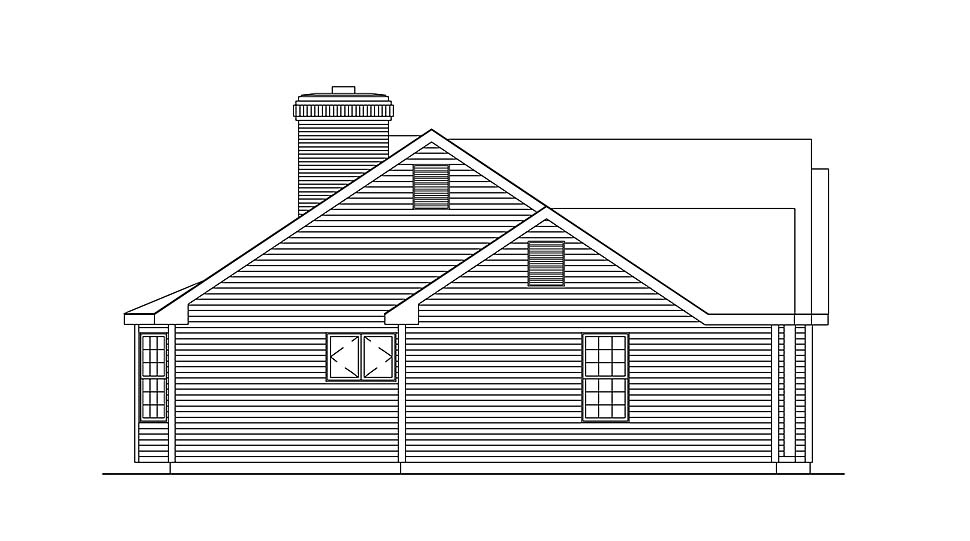 Ranch, Traditional House Plan 97204 with 3 Beds, 2 Baths, 2 Car Garage Picture 2