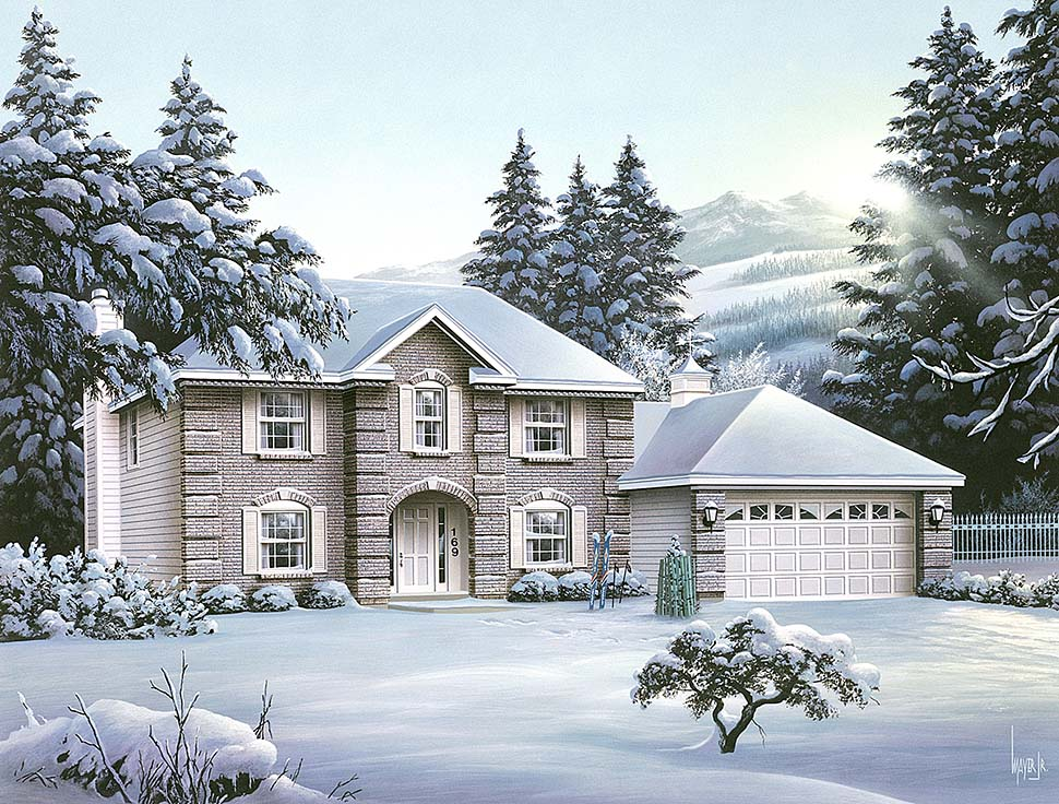 Colonial European Traditional House Plan 97206 Elevation