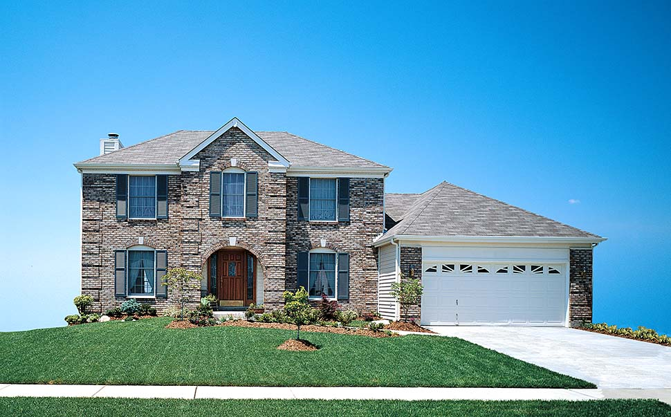 Colonial, European, Traditional House Plan 97206 with 3 Beds, 3 Baths, 2 Car Garage Picture 3