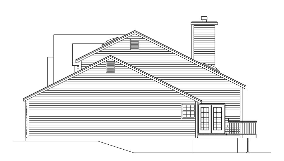 Traditional House Plan 97207 with 4 Beds, 3 Baths, 2 Car Garage Picture 1