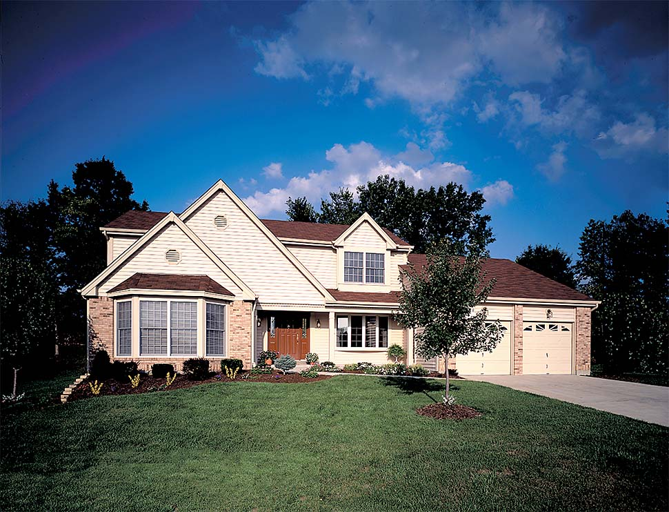 Traditional House Plan 97207 with 4 Beds, 3 Baths, 2 Car Garage Picture 3