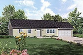 Plan Number 97208 - 1343 Square Feet