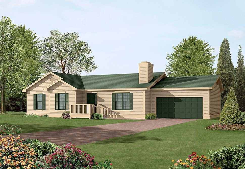 Ranch House Plan 97209 Elevation