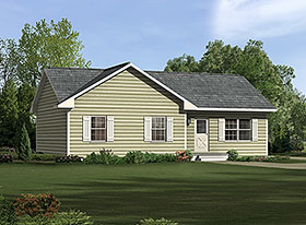 Ranch House Plan 97210 with 3 Beds, 2 Baths Elevation