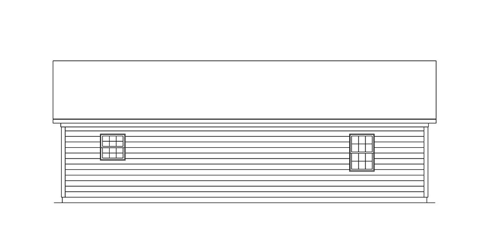 Ranch House Plan 97210 Rear Elevation
