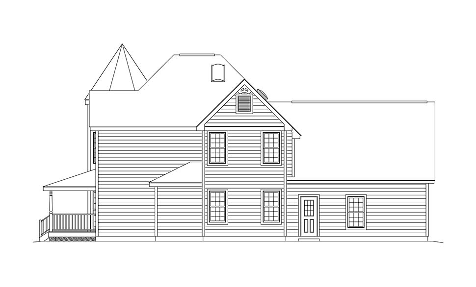 Farmhouse, Victorian House Plan 97212 with 3 Beds, 3 Baths, 2 Car Garage Picture 1