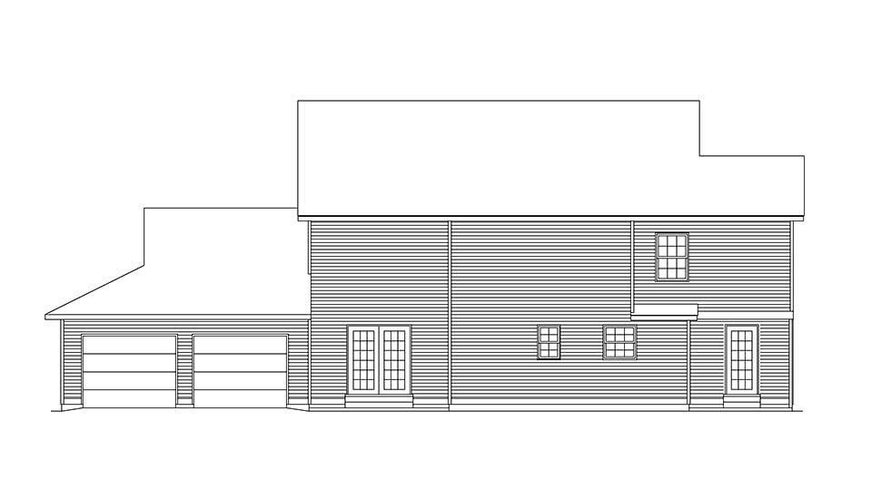 Country Farmhouse House Plan 97214 Rear Elevation