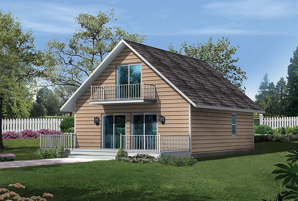 House Plan 97217 | Cabin Cottage Style Plan with 1230 Sq Ft, 3 Bedrooms, 1 Bathrooms Elevation