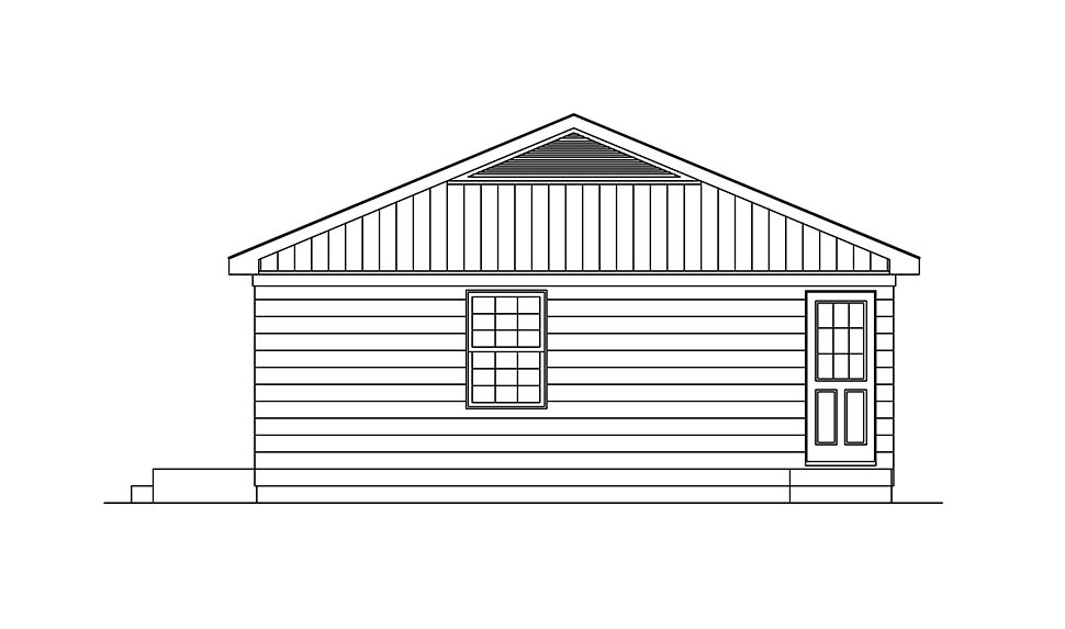 Ranch House Plan 97218 with 3 Beds, 1 Baths Picture 1