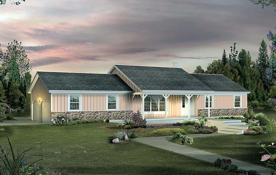 Farmhouse Ranch House Plan 97219 Elevation