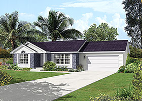 Ranch Traditional House Plan 97228 Elevation