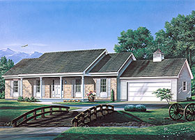Ranch House Plan 97231 Elevation