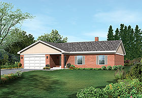 Plan Number 97232 - 1605 Square Feet