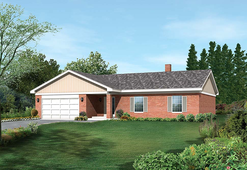 Country Ranch Traditional Elevation of Plan 97232