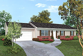 Country , Ranch , Traditional House Plan 97233 with 3 Beds, 2 Baths, 2 Car Garage Elevation