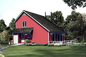 Country Retro Saltbox House Plan 97235 Elevation