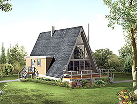 A-Frame Contemporary House Plan 97236 Elevation