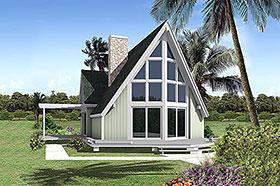 A-Frame Contemporary House Plan 97243 Elevation