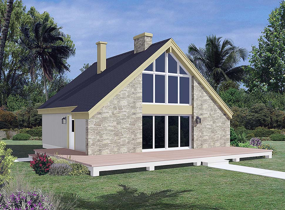 Contemporary , Traditional House Plan 97245 with 3 Beds, 1 Baths Elevation