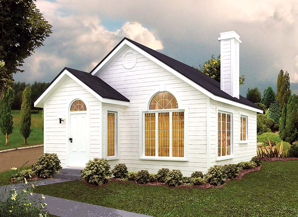 Contemporary Cottage House Plan 97246 Elevation