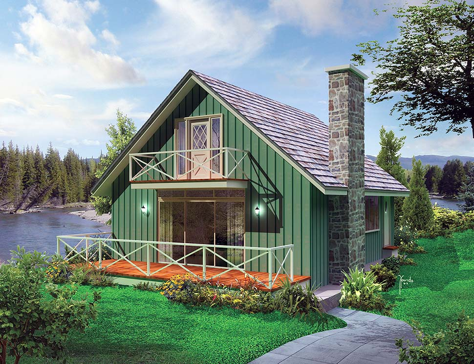 Cabin, Country, Southern, Traditional House Plan 97247 with 3 Beds, 2 Baths Front Elevation