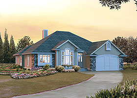 European Ranch House Plan 97257 Elevation