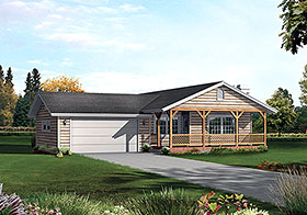 Country Ranch Traditional House Plan 97258 Elevation