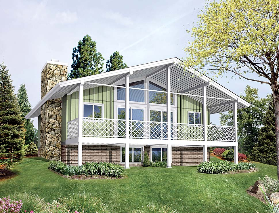 Bungalow Contemporary Country Traditional Elevation of Plan 97259