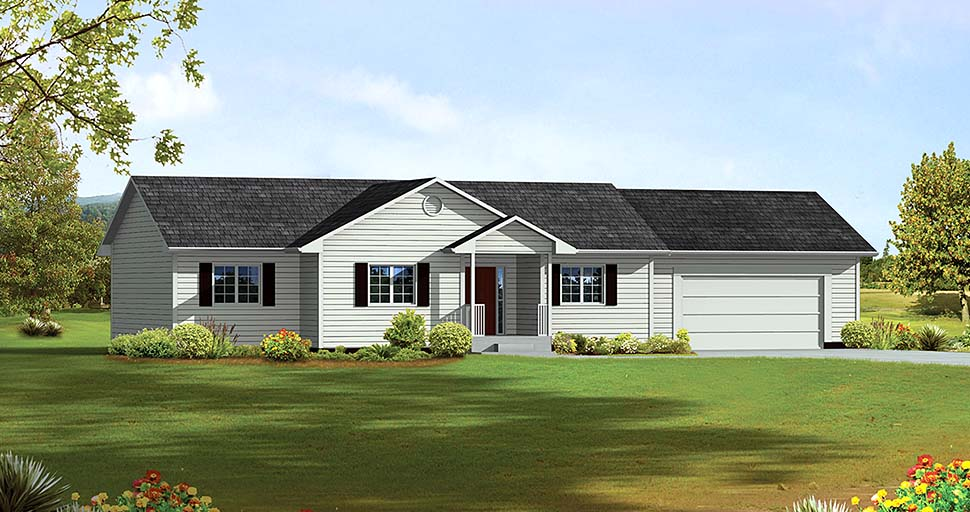 Ranch Traditional House Plan 97261 Elevation