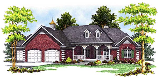Country European House Plan 97303 Elevation