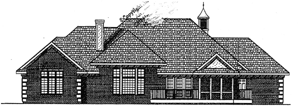 Country European House Plan 97303 Rear Elevation