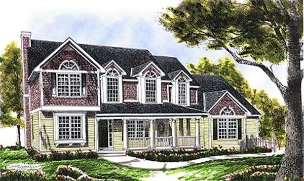 House Plan 97304 | Bungalow Country Style Plan with 2236 Sq Ft, 4 Bedrooms, 3 Bathrooms, 2 Car Garage Elevation