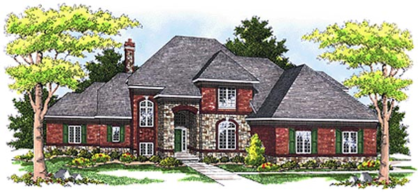 European House Plan 97305 Elevation