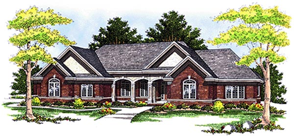 Traditional House Plan 97306 with 3 Beds, 3 Baths, 3 Car Garage Elevation