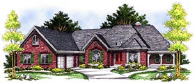 Traditional House Plan 97307 Elevation