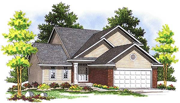 Traditional House Plan 97310 with 3 Beds, 2 Baths, 2 Car Garage Elevation