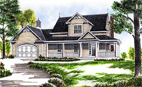 Country House Plan 97311 with 3 Beds, 2 Baths, 2 Car Garage Elevation